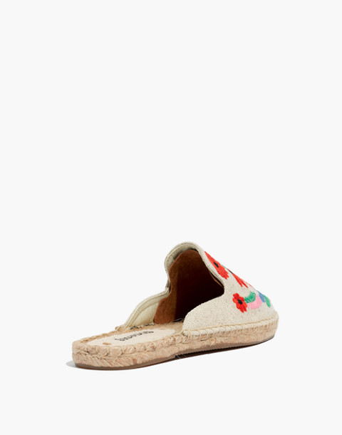 Soludos® Embroidered Ibiza Mules in sand multi image 4