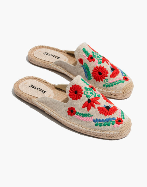 Soludos® Embroidered Ibiza Mules in sand multi image 1