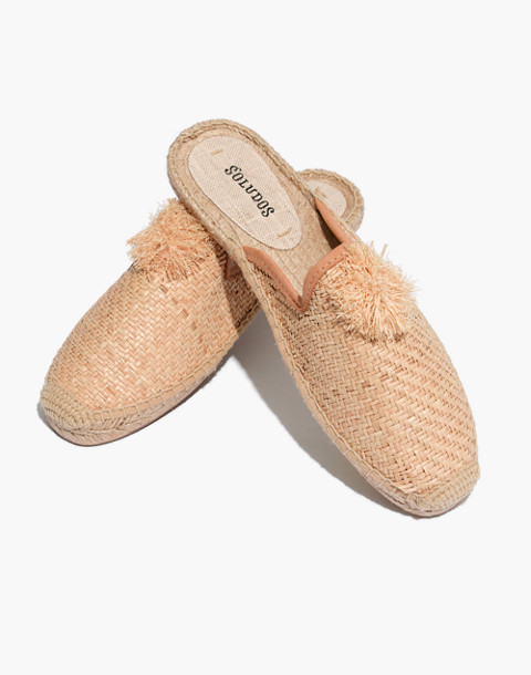 Soludos® Raffia Mules in natural image 1