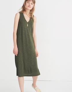 V-Neck Jersey Tank Dress
