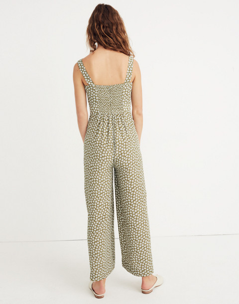 Plumeria Cutout Jumpsuit in Mini Daisy in camille floral tundra image 3
