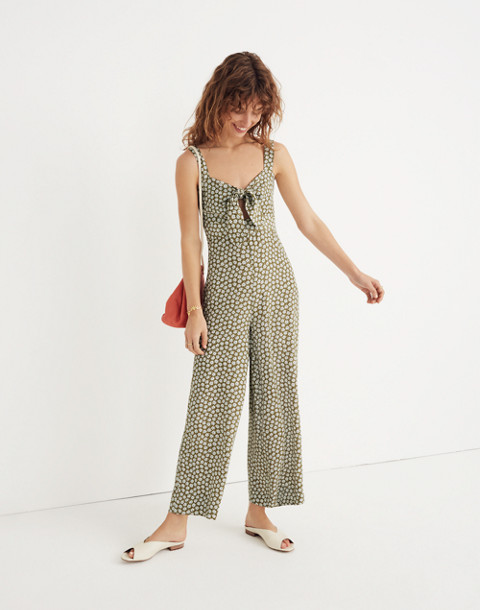 Plumeria Cutout Jumpsuit in Mini Daisy in camille floral tundra image 1