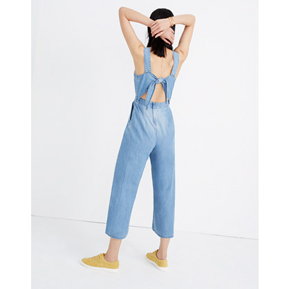 Denim Apron Bow Back Jumpsuit by Madewell