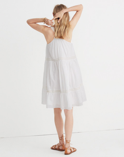 Embroidered Honeysuckle Dress in eyelet white image 2