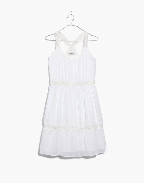 Embroidered Honeysuckle Dress in eyelet white image 4