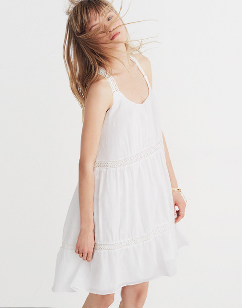 Embroidered Honeysuckle Dress in eyelet white image 1