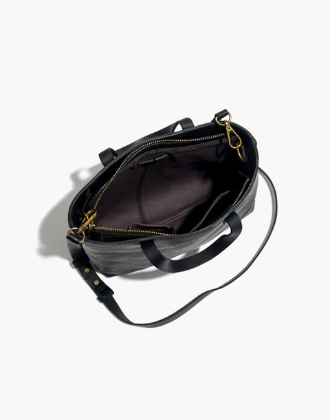 The Zip-Top Transport Crossbody in true black image 3