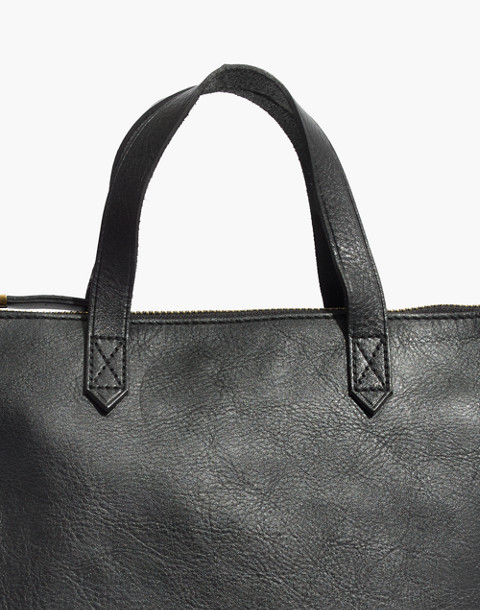 The Zip-Top Transport Crossbody in true black image 4