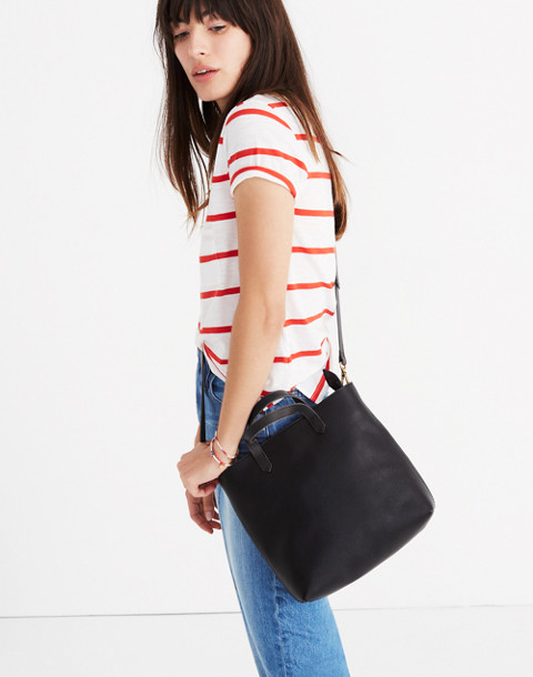 The Zip-Top Transport Crossbody in true black image 2
