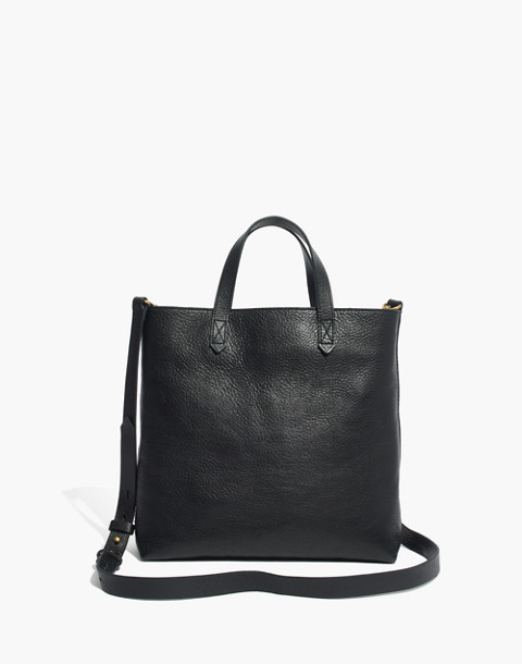 The Zip-Top Transport Crossbody in true black image 1