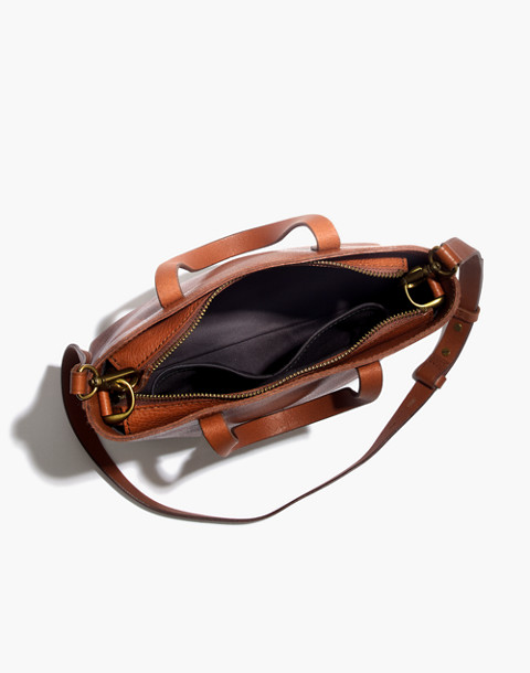 The Zip-Top Transport Crossbody in english saddle image 2
