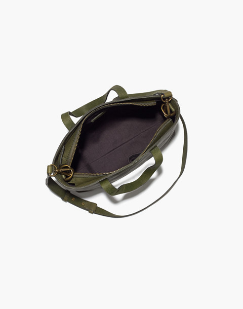 The Zip-Top Transport Crossbody in deep woodland image 2