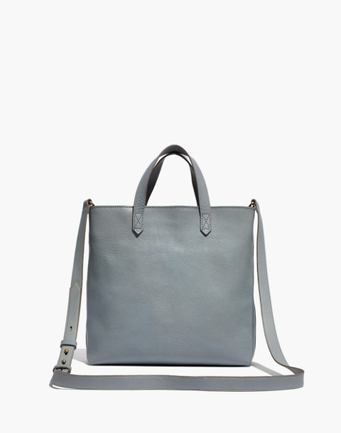 The Zip-Top Transport Crossbody in grey feather image 1