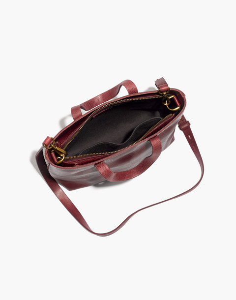 The Zip-Top Transport Crossbody in dark cabernet image 2