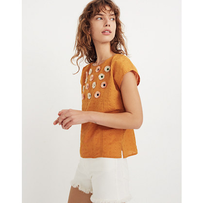 Embroidered Sunflower Top by Madewell