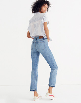 Classic Straight Jeans: Destructed Edition