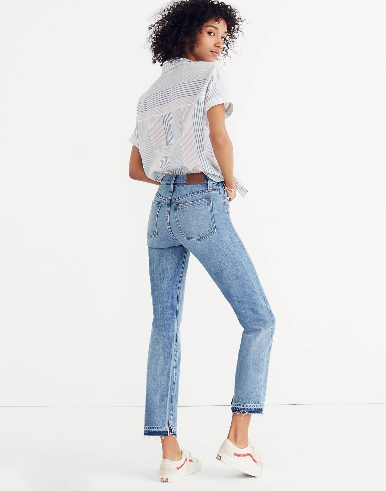 Classic Straight Jeans: Destructed Edition in tyler wash image 3