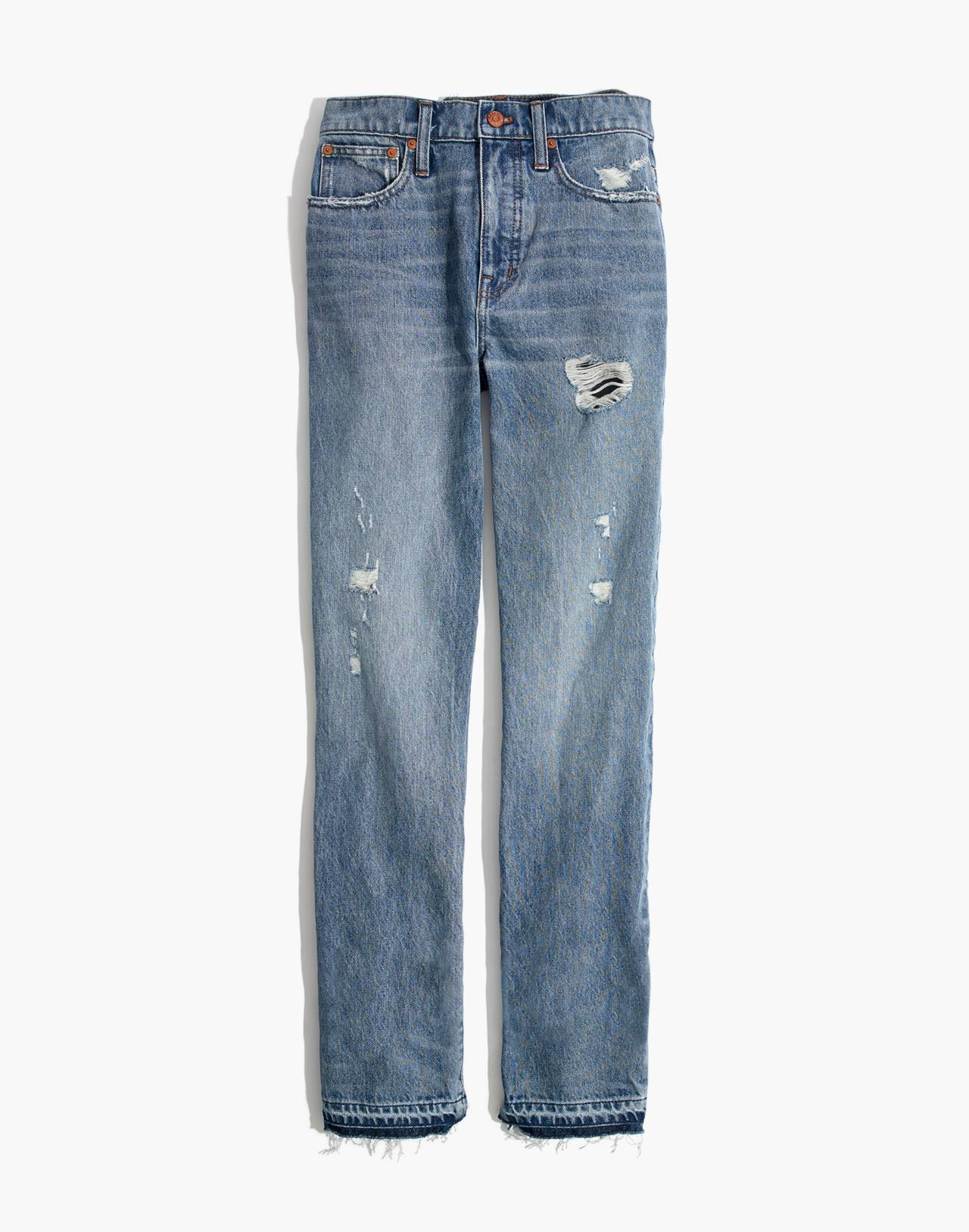 Classic Straight Jeans: Destructed Edition in tyler wash image 4