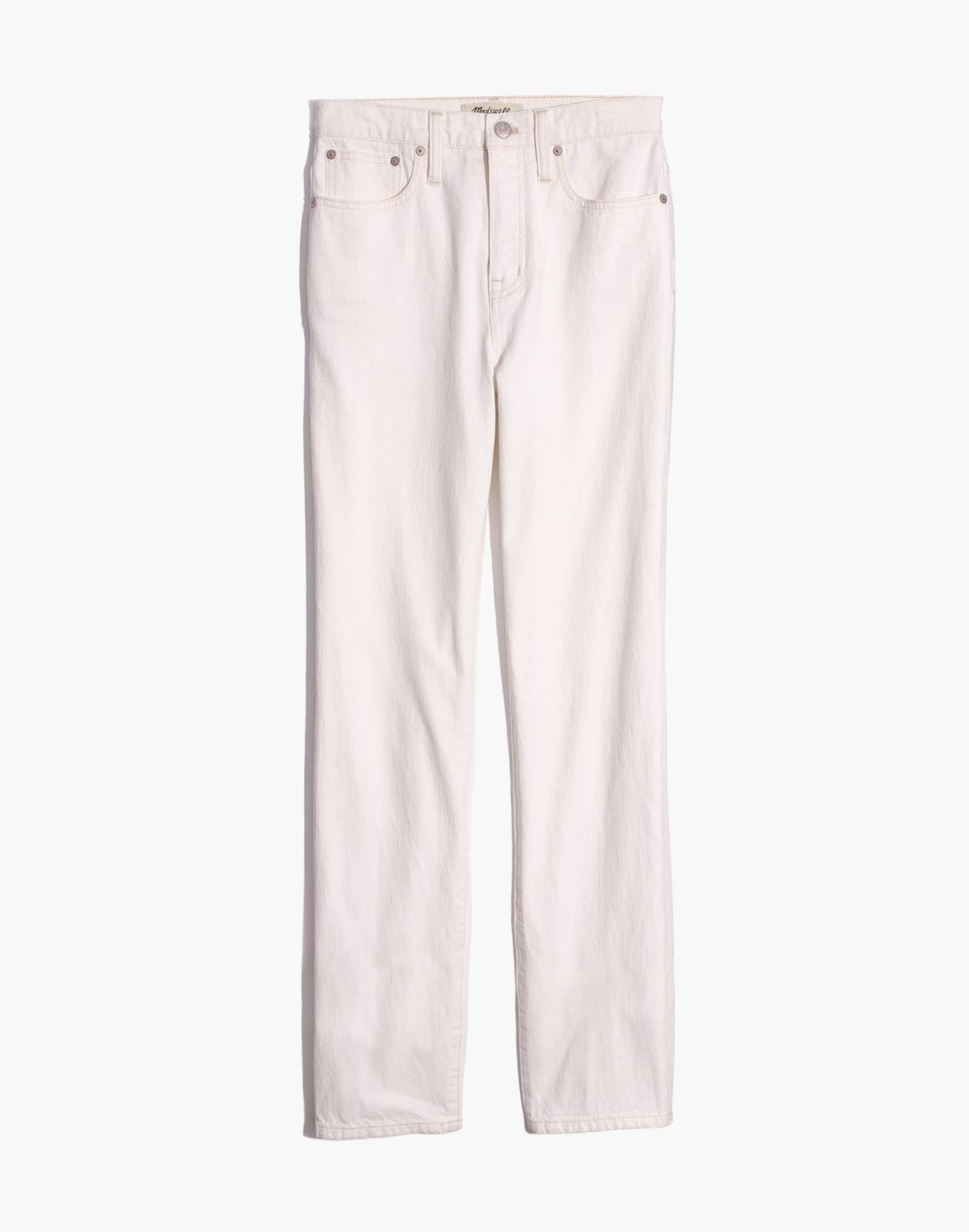 Classic Straight Jeans in Tile White in tile white image 4