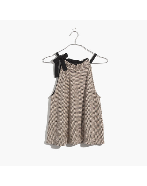 Texture & Thread Tie-Neck Halter Top in natural image 4