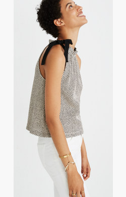 Texture & Thread Tie-Neck Halter Top