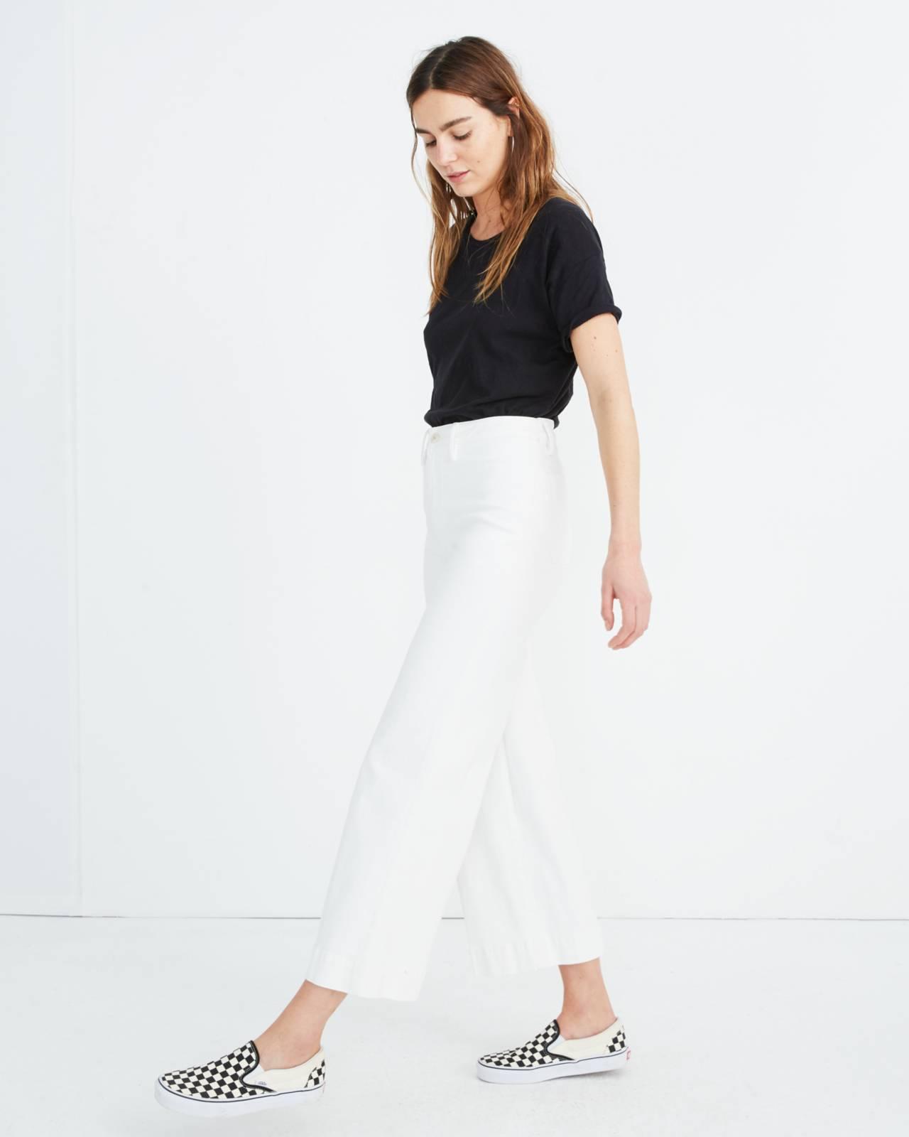Tall Emmett Wide-Leg Crop Jeans in Tile White in tile white image 2