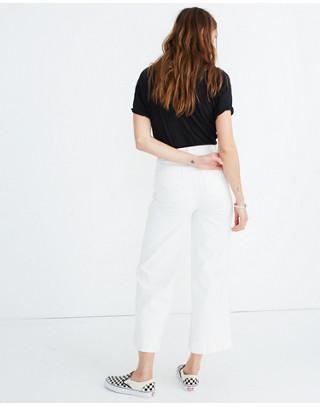 Petite Emmett Wide-Leg Crop Jeans in Tile White in tile white image 3
