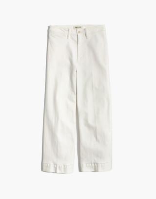 Petite Emmett Wide-Leg Crop Jeans in Tile White in tile white image 4