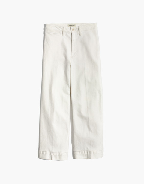 Emmett Wide-Leg Crop Jeans in Tile White in tile white image 4