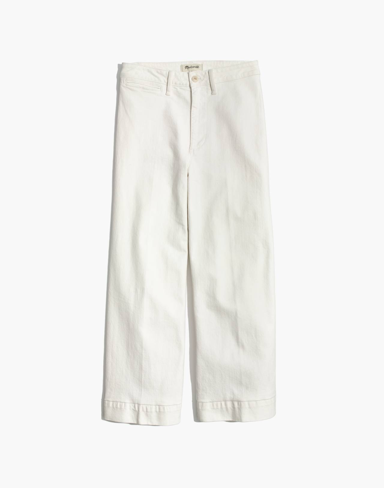 Tall Emmett Wide-Leg Crop Jeans in Tile White in tile white image 4