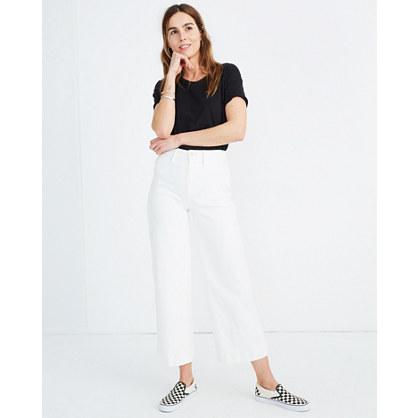 Tall Emmett Wide-Leg Crop Jeans in Tile White