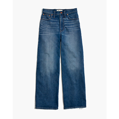 Wide Leg Crop Jeans In Finney Wash by Madewell