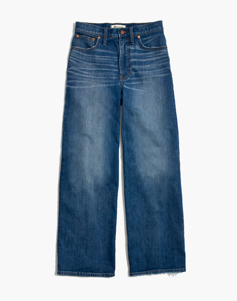 Tall Wide-Leg Crop Jeans in Finney Wash in finney wash image 4