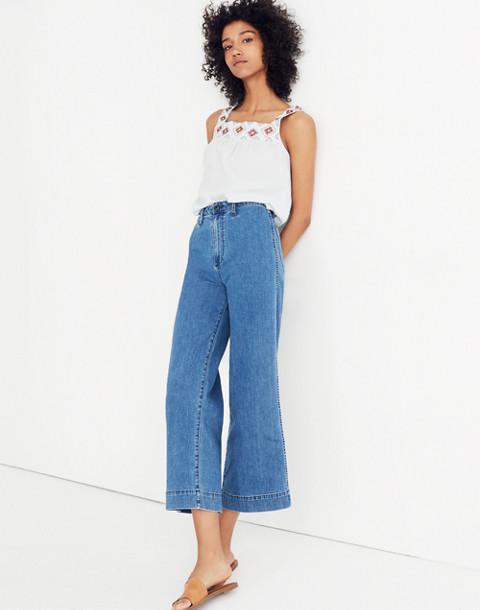 Tall Emmett Wide-Leg Crop Jeans in Rosalie Wash