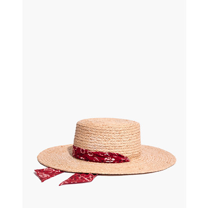 Bandana Straw Hat by Madewell