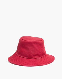 Short-Brimmed Canvas Bucket Hat