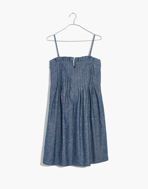 Denim Pintuck Cami Dress in bengali indigo image 4
