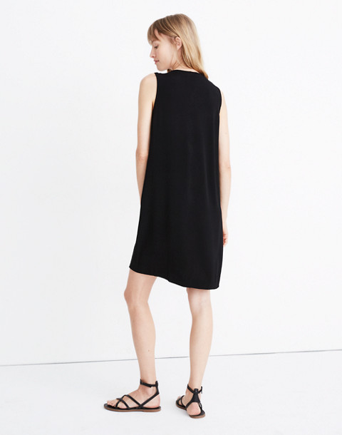 Heather Button-Front Dress in true black image 3