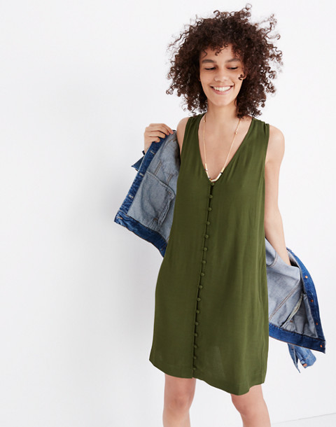 Heather Button-Front Dress in sweet balsam image 2