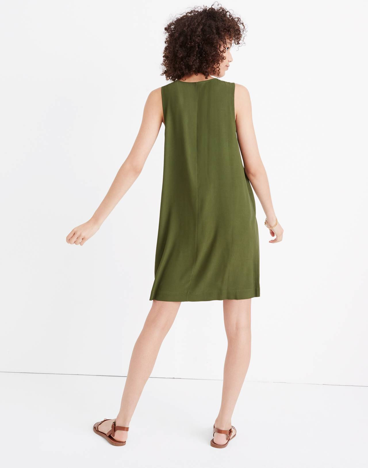 Heather Button-Front Dress in sweet balsam image 3