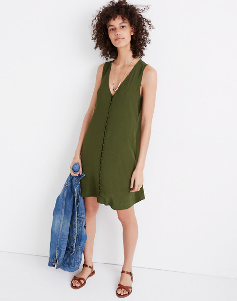 Heather Button-Front Dress in sweet balsam image 1