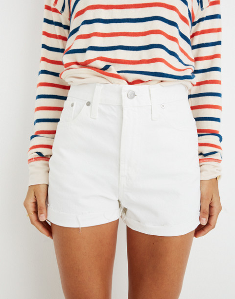 The Perfect Jean Short in Tile White in tile white image 3