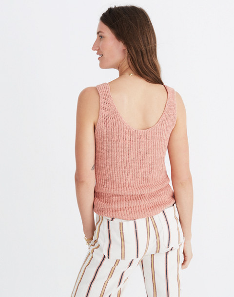 Monterey Sweater Tank in antique coral image 3