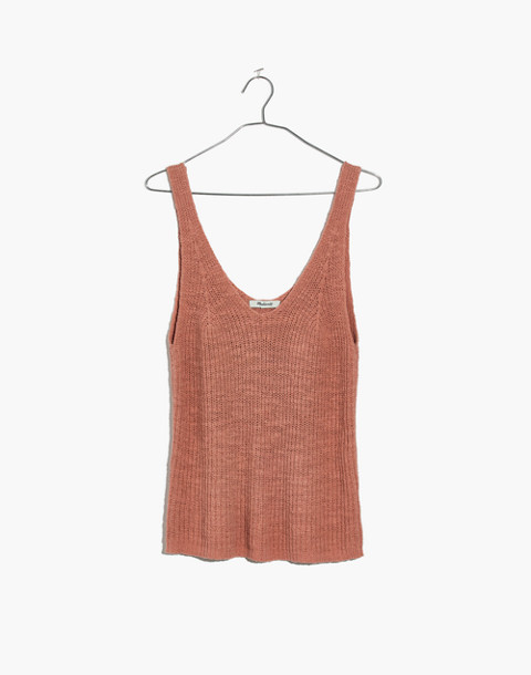Monterey Sweater Tank in antique coral image 4