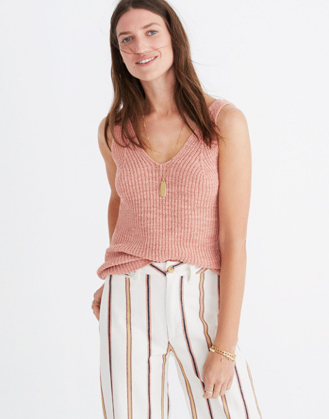 Monterey Sweater Tank in antique coral image 1
