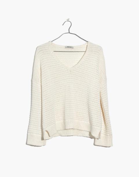 Breezeway Pullover Sweater in bright ivory image 4