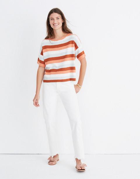 Boxy Sweater Tee in Maggie Stripe