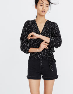 Silk Wrap Top in Star Scatter