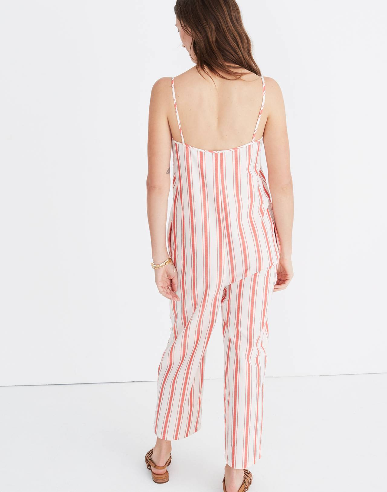 Striped Cami Jumpsuit in muslin image 3
