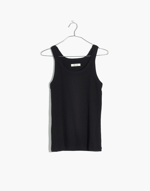 Audio Tank Top in true black image 4